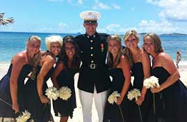 Military Weddings at St Thomas Hotels